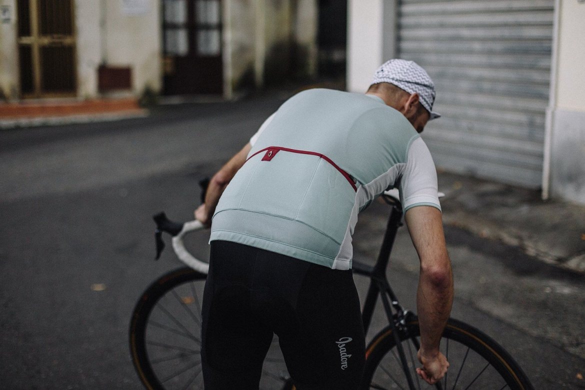 Signature Cycling Jersey Harbor Blue/White