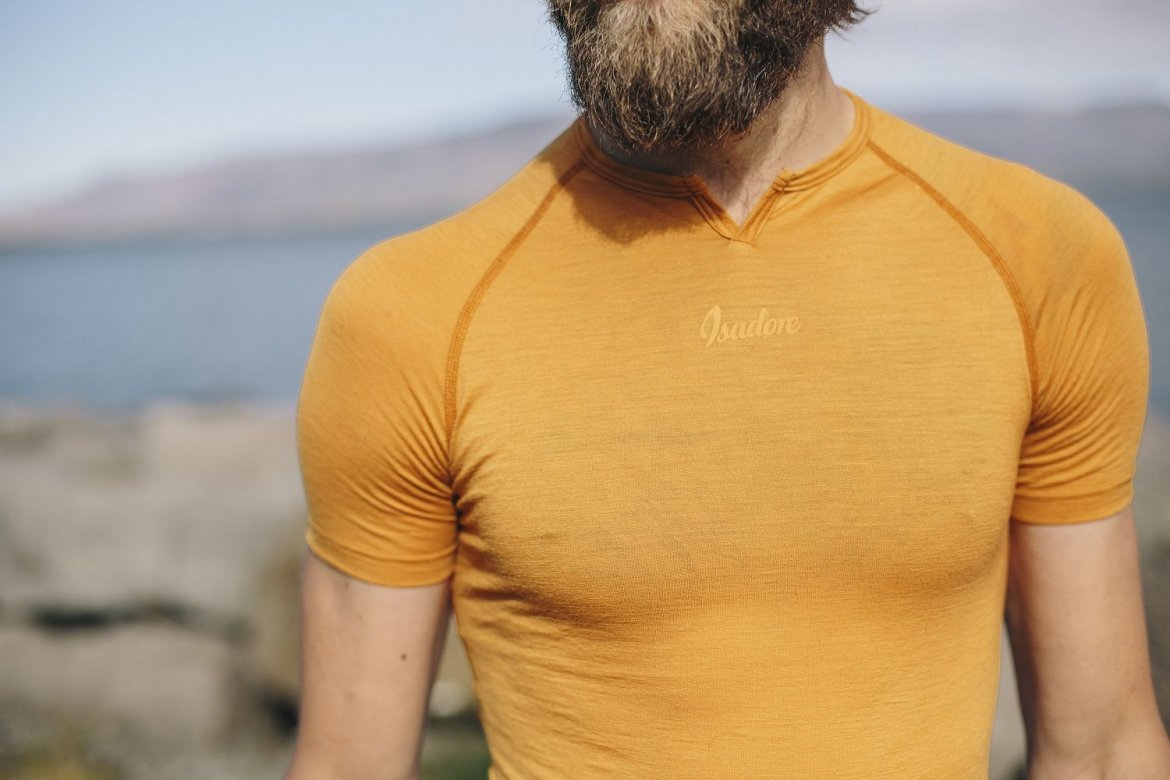 100% Merino SS Baselayer Golden Oak