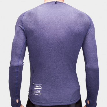 100% Merino LS Baselayer Maritime Blue